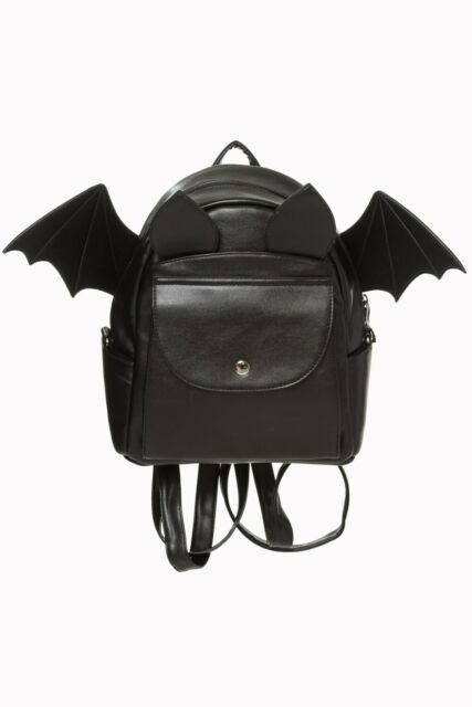 Black Gothic Punk Emo Rockabilly Bat Wings Waverley Backpack Bag BANNED Apparel