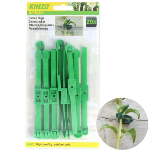 Choose GREEN PLANT TIES Growth Support Adjustable Reusable Garden Cables Rings
