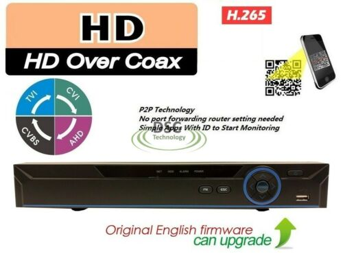 16 Channel 1080p High Definition HDCVI Tribrid DVR with 2TB HDD Installed.