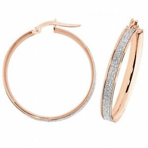 Hoop-Earrings-Rose-Gold-Round-Hoops-Rose-Gold-Moondust-Hoop-Earrings-25mm