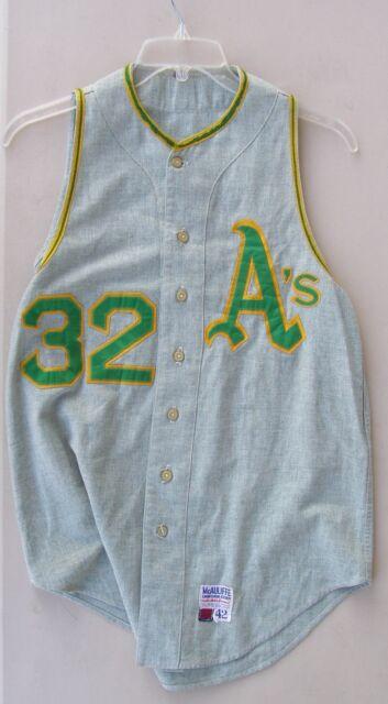 1969 Oakland A's Jersey (Vest style), Tagged McAuliffe.  Bob Johnson Size 42