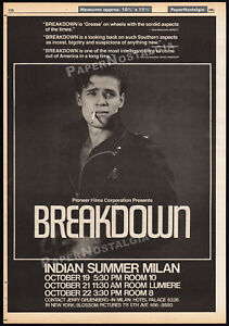 BREAKDOWN-THE-LOVELESS-Original-1981-Trade-AD-promo-poster-WILLEM-DAFOE