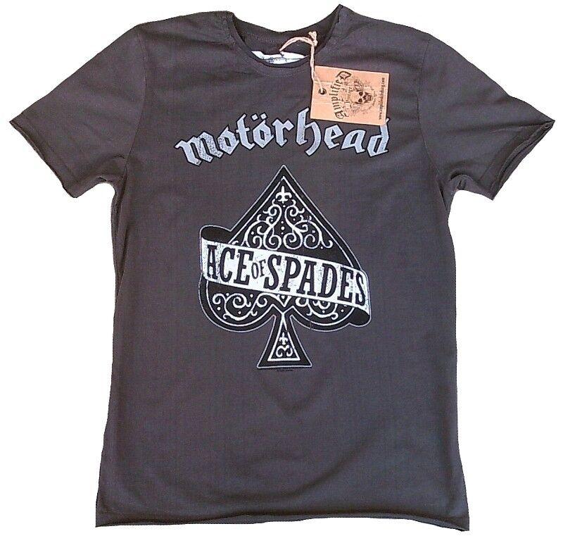 Amplified Amplified Amplified MOTÖRHEAD Ace of Spades Poker Metal Rock Star Vintage T-shirt S 46 1440bb