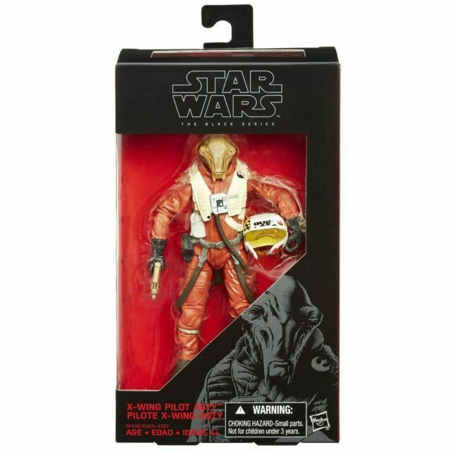 STAR WARS THE FORCE AWAKENS THE BLACK SERIES 6-INCH X-WING PILOT ASTY FIGURE