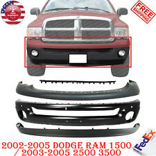 Front Bumper Paintable Kit For 2002 2005 Dodge Ram 1500 2003 05 2500 3500 Fits 2005 Dodge Ram 1500