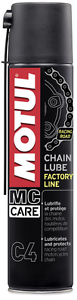 1 x 400 ML Grasso Spray adesivo Motul C4 Chain Lube Factory Line per Catena moto