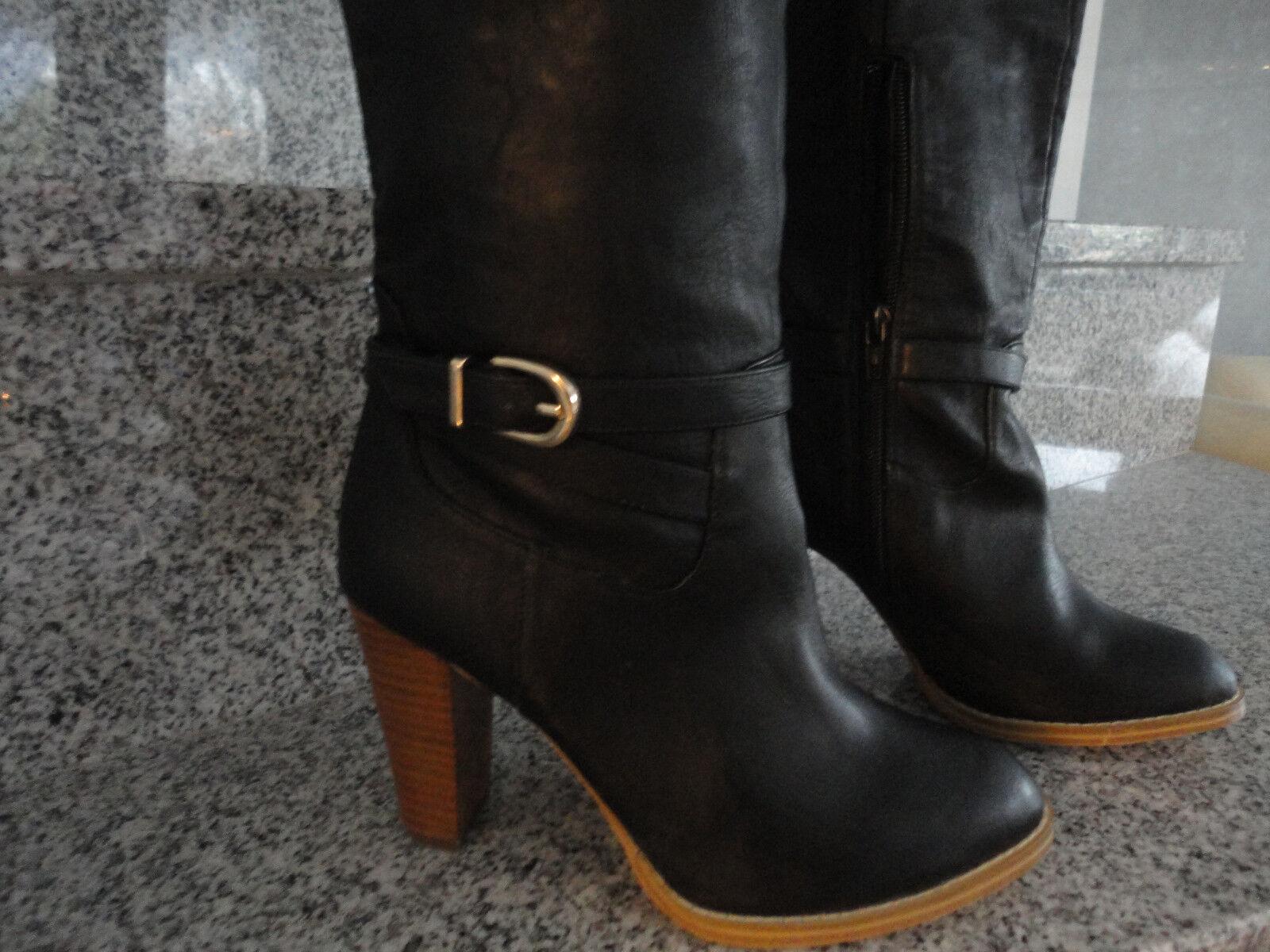 H&M Stiefe Damen Schuhe Schwarz Elegant  Gr. 37
