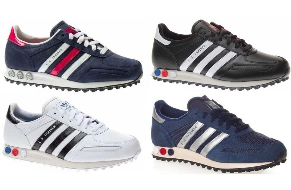 Zapatos bianco  Adidas Trainer hombre mujer in pelle blu bianco Zapatos nero colore a scelta a5e731