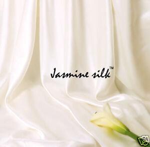 Jasmine-Silk-Reine-Seide-Flache-Platte-Creme-Einzeln