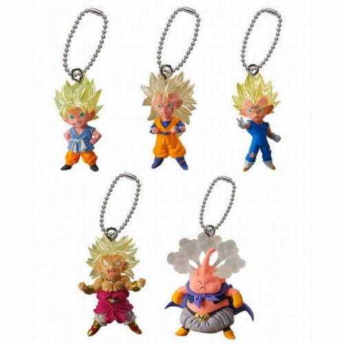DRAGONBALL Z UDM BEST 14 KEYCHAIN COLLECTIBLE Goku Vegeta Brolly Majin Buu NEW