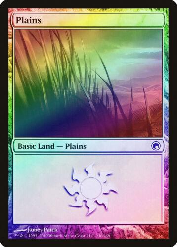 230 Plains FOIL Scars of Mirrodin NM Basic Land MAGIC MTG CARD ABUGames