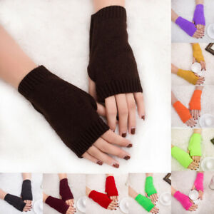 Women-Girl-Knitted-Fingerless-Winter-Gloves-Soft-Warm-Half-Finger-Mitten-Welcome