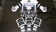 Carbon Fiber Phantom 2 Vinyl decal stickers Markings DJI Drone Helicopter RC