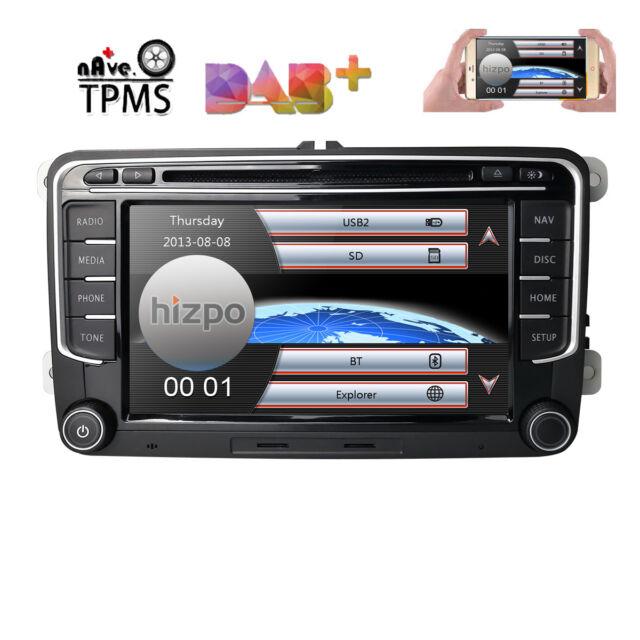 For VW Volkswagen Jetta Passat DAB+Car GPS Stereo CD DVD Navigation 2DIN  Radio E