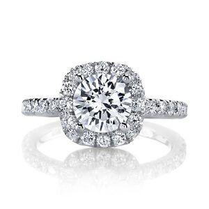 Details About Pretty Halo Design 80ct Diamond Platinum Designer Engagement Semi Mount