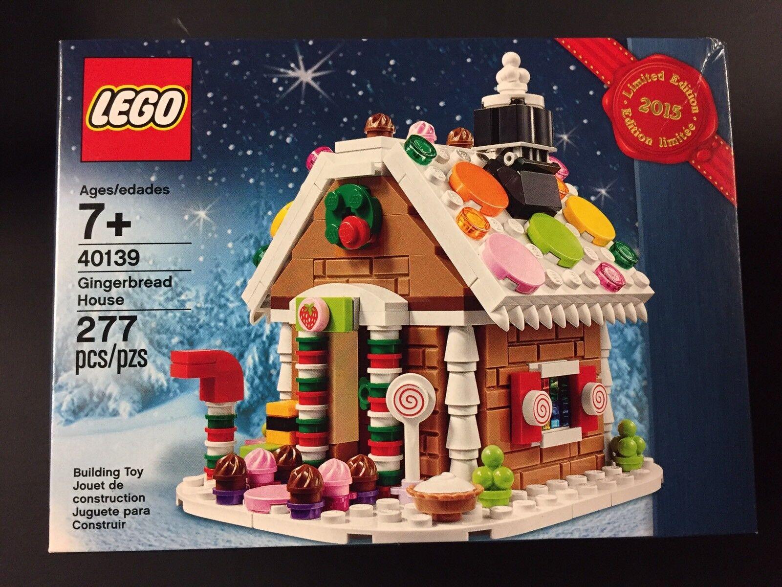 Neue, seltene lego set 40139 2015 limitierte auflage lebkuchenhaus zu weihnachten spielzeug