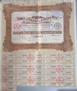 Set-of-7-Planches-D-Action-250-Francs-Tobacconist-039-s-D-039-Orient-amp-D-039-Outre-Mer-1920