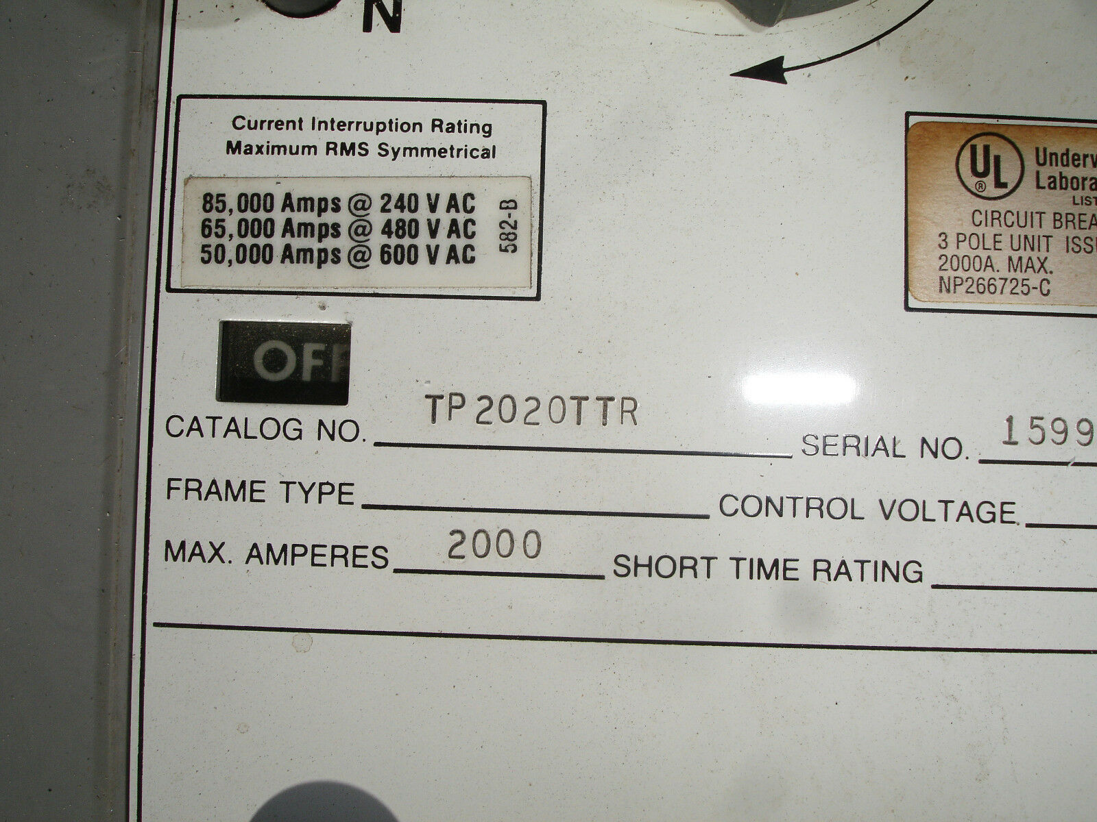 General Electric Power Break 3 Pole 2000 Amp Ge Breaker Tp2020ttr W Electrical Thql1115gfp 15amp 1pole Gfci Circuit Plugin Norton Secured Powered By Verisign