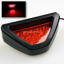 NEW! EZ ADD ON REAR BUMPER F1 STYLE DIFFUSER RED TRIANGLE LED 3RD BRAKE LIGHT