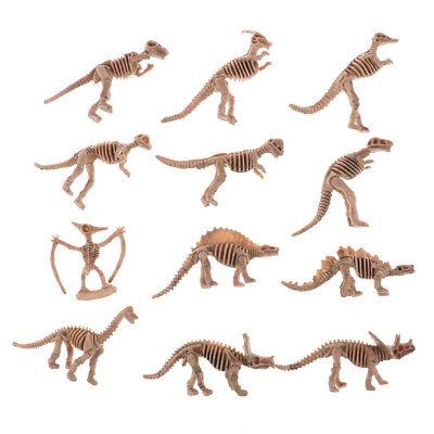 12* divers dinosaures en plastique fossile squelette Dino figures enfants jouet9