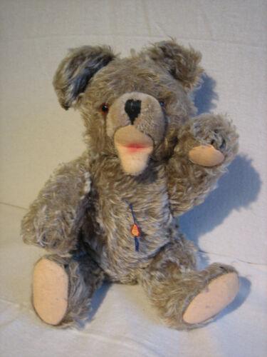 Teddys Clemens Teddybär Stoffbär Mohair 36cm bewegliche Gliedmaßen 60/70er Jahre