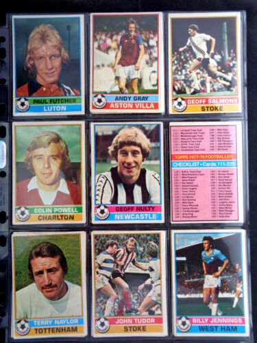 G//F TOPPS 1977 FOOTBALL RED BACK CARDS 101 TO 200 *PICK THE CARDS YOU NEED*