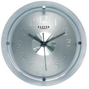 PEARLTIME-WALL-CLOCK-GLASS-PW6233-SILVER-RRP-59-95