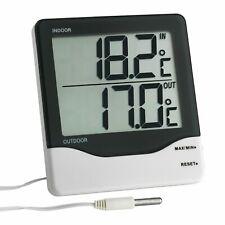 TFA Dostmann Digitales Innen-Außen-Thermometer Mit flexiblem Außentemperaturfühl