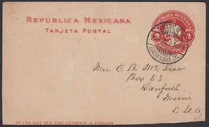 MEXICO, 1902. Post Card H&G 108, Guadalajara - Danforth, Me