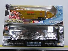 BOBBY HAMILTON PLATINUM +  KODAK GOLD TRANSPORTER WITH CAR NEW NIB GM980