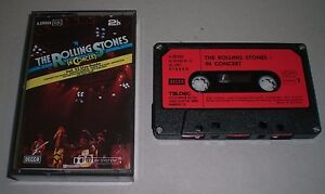 The Rolling Stones in Concert~RARE 1981 LIVE German Import Cassette~Paper Labels