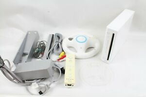 NINTENDO-WII-WHITE-CONSOLE-RVL-001-CONTROLLER-tested-working-japan