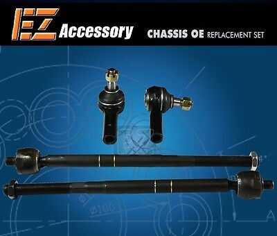 Set of 2 Outer Steering Tie Rod End fits 2018 Toyota Tacoma for Left /& Right Side