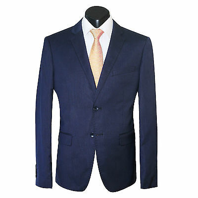 NEW MEN'S NAVY BLUE SLIM FIT SUIT JACKET WITH TROUSER PANTS