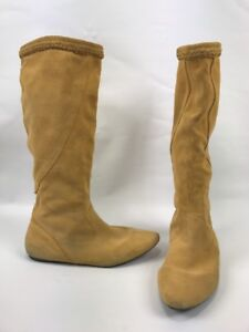 5529cd44d257 Sam Edelman Utah Yellow Suede Leather Moccasin Knee Boots Women Size ...