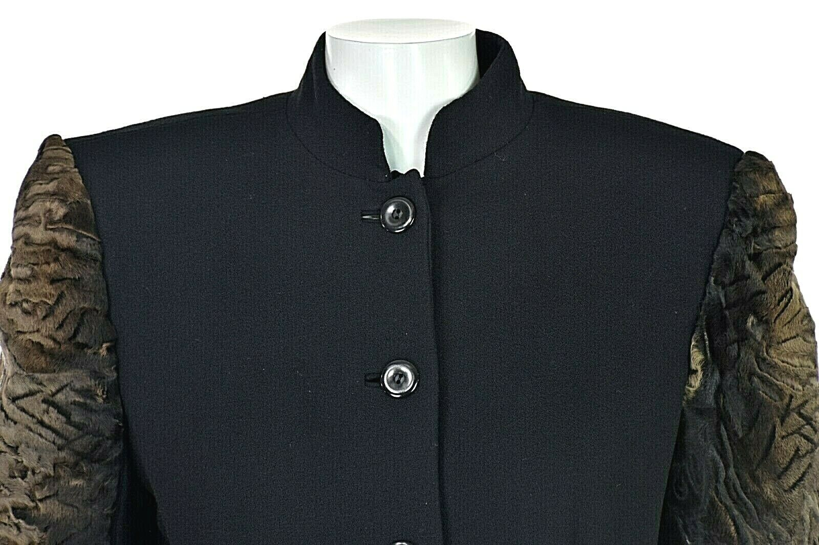 TRAVILLA Vintage Wool Crepe Skirt Suit with Persi… - image 2
