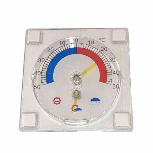 Window Thermometer Indoor Outdoor Wall Greenhouse Garden Clear C Degrees