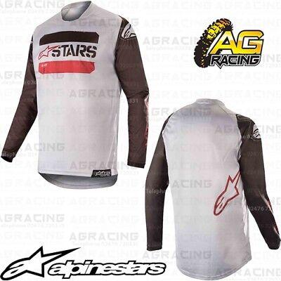 Alpinestars 2019 Racer Graphite Youth Kids Black Anthracite Race Jersey Shirt MX