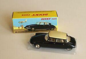 Citroen-DS-19-serie-limitee-noire-blanc-ref-530-au-1-43-de-dinky-toys-atlas