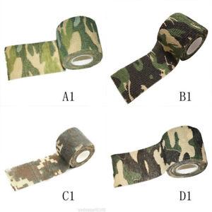 Ejército Camo Wrap Rifle Tiro Caza Camuflaje Stealth cinta 5cm x4.5m 2 un