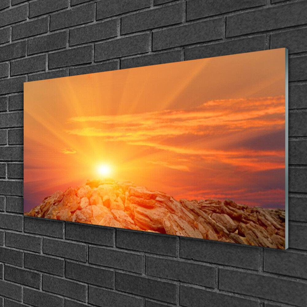 Wandbilder aus Plexiglas® 100x50 Acrylglasbild Sonne Landschaft