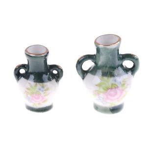 2PCS-1-12-Dollhouse-Mini-Chinese-Traditional-Ceramics-Vase-Miniature-Decor-FT