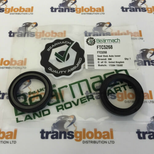 FTC5268 94 On Front Stub Axle Inner Seal x2 Land Rover Defender Bearmach