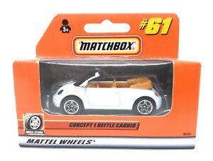 Matchbox-MBX-Superfast-2000-Nr-61-VW-Volkswagen-New-Beetle-Cabrio-weiss