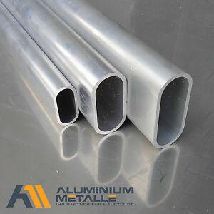 aluminium ovalrohr 50x25x2mm almgsi0 5 l nge w hlbar alu profil alurohr oval ebay. Black Bedroom Furniture Sets. Home Design Ideas