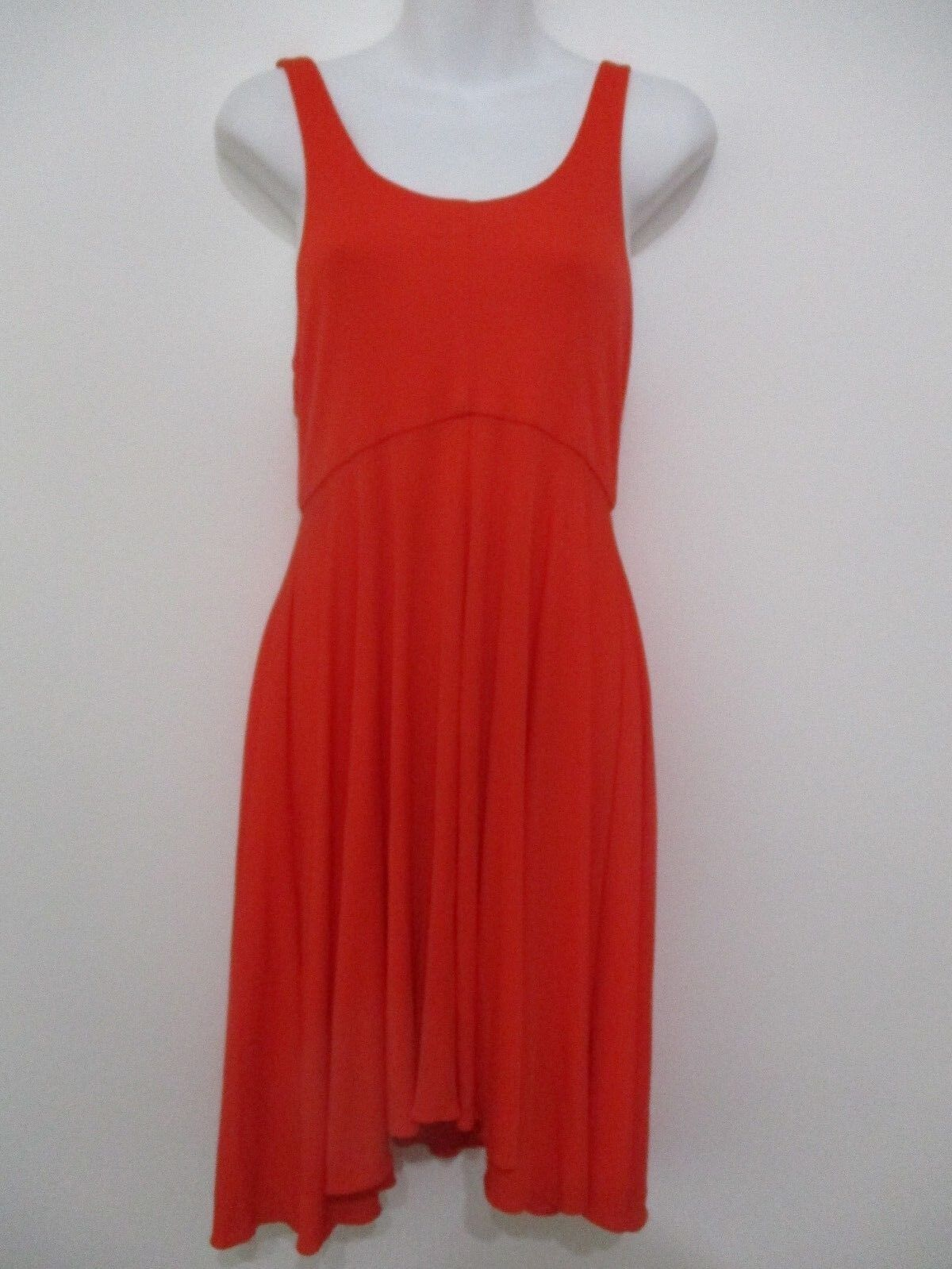 Milly Fit and Flare Sleeveless Dress orange Sz Small NWOT