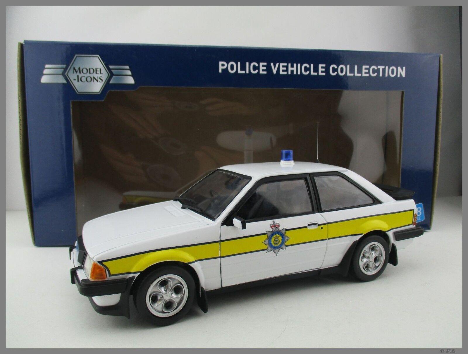 ventas calientes Ford escor xr3i Cambridgeshire Constabulary Model-ICONS 1 18 18 18 OVP nuevo  descuento de bajo precio