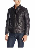 Marc York Andrew Marc Mens Xxlarge Black Mac Moto Calf Leather Jacket Tg