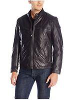 Marc York Andrew Marc Mens Xxlarge Black Mac Moto Calf Leather Jacket Tg
