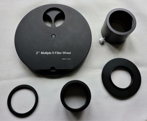 """nuevo varios 5-Rueda de filtros para telescopio Alta Calidad 2/"""" cinco posición"""